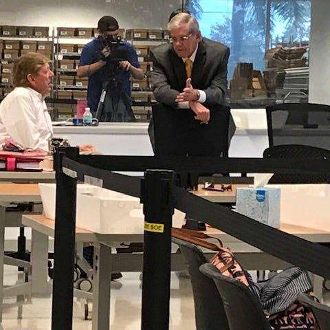 Manual recount in Lee County wrapped up Saturday; Caldwell trailing