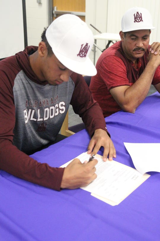 Cypress Lake's Janmikell Bastardo signed a full scholarship for baseball to Alabama A&M on Thursday.