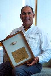 Capt. Brian Holaway was presented the annual Junonia Award by The Lee County Visitor & Convention Bureau during its annual sales and marketing meeting with industry partners Thursday, November 15, 2018 at The Westin Cape Coral at Marina Village.