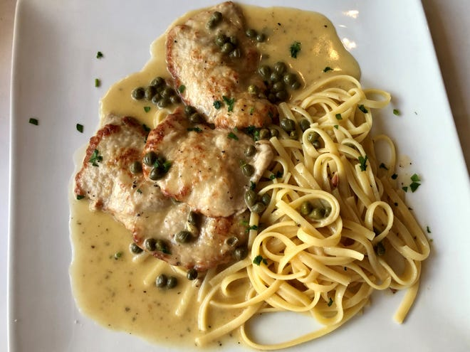 An order of veal piccata was perfectly seared and wonderfully lemony.