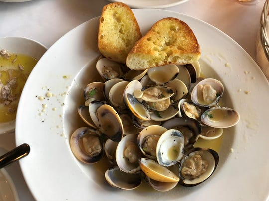 Terra Nostra's clams brodo came out tender and perfectly steamed, pooled in a white-wine broth fragrant of garlic.