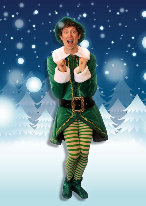 Elf Buddy The Elf With Backdrop Excited