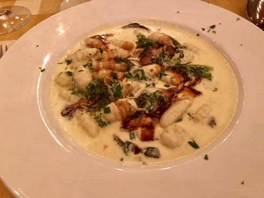 Gnocchi in a brie sauce with broccoli rabe, portobello mushrooms and a drizzle of red-wine demi glace was one of the most clever dishes at the new Terra Nostra in south Fort Myers.