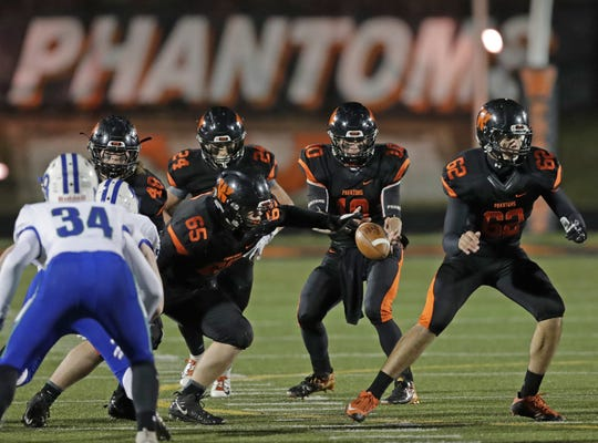 West De Pere's Josh Blount (10) was the offensive player of the year in the Bay Conference this season.