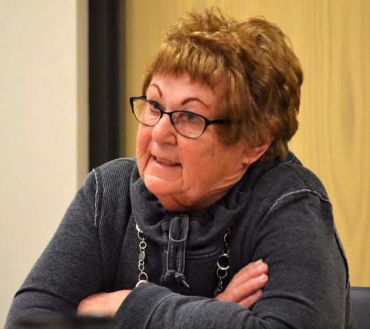 Ann Hogan, chair of the town of Riverview, speaks to members of the Oconto County Law Enforcement/Judiciary Committee at a meeting on Nov. 7.