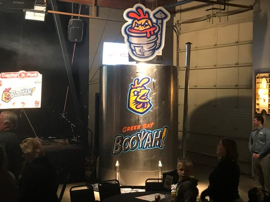 The Green Bay Booyah unveiled a 2,000 gallon booyah kettle as part of announcing the team's new name Nov. 14 at the Green Bay Distillery. Team officials said the kettle will be the world's largest and will be used to make booyah at Capital Credit Union Park.