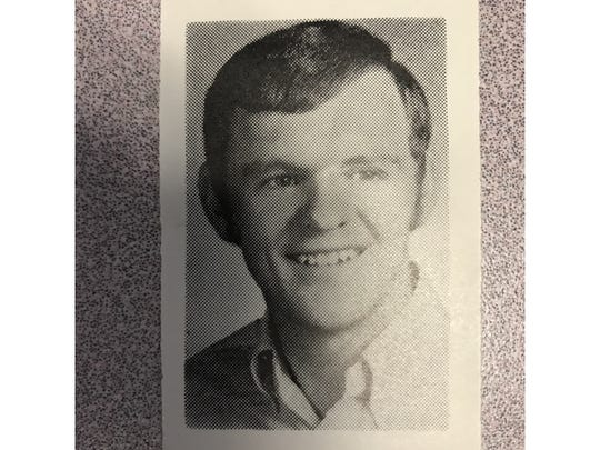 Charlie Rice as a high school student at Great Falls Central in 1970.