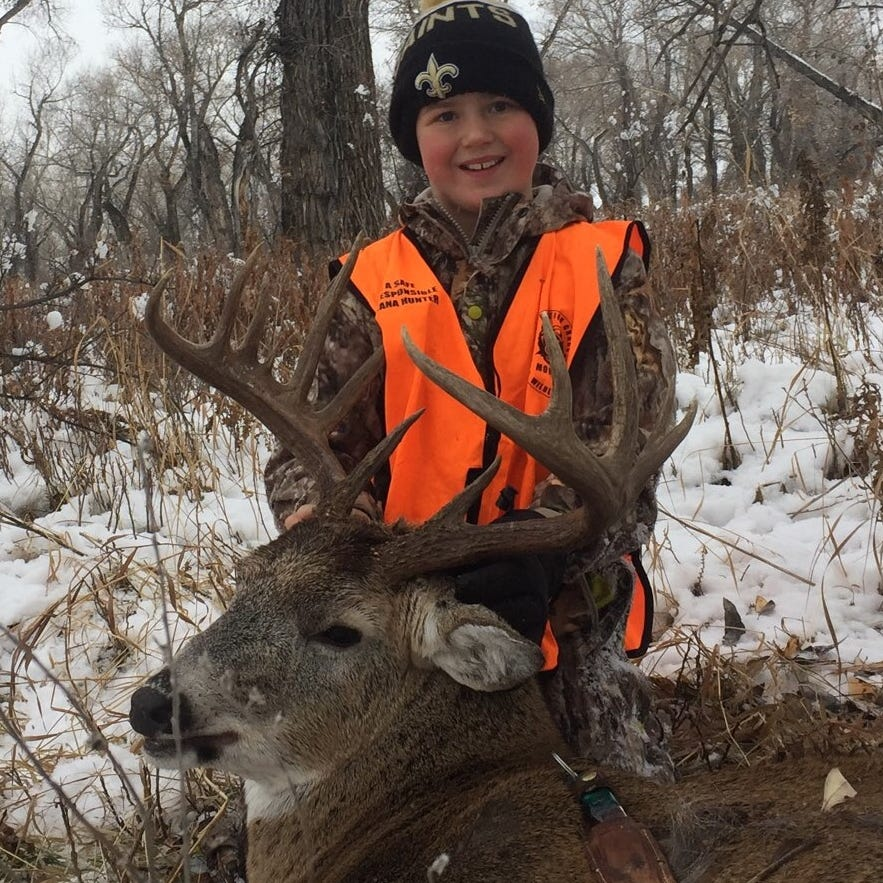 Youth hunter takes down white-tailed buck near Belt