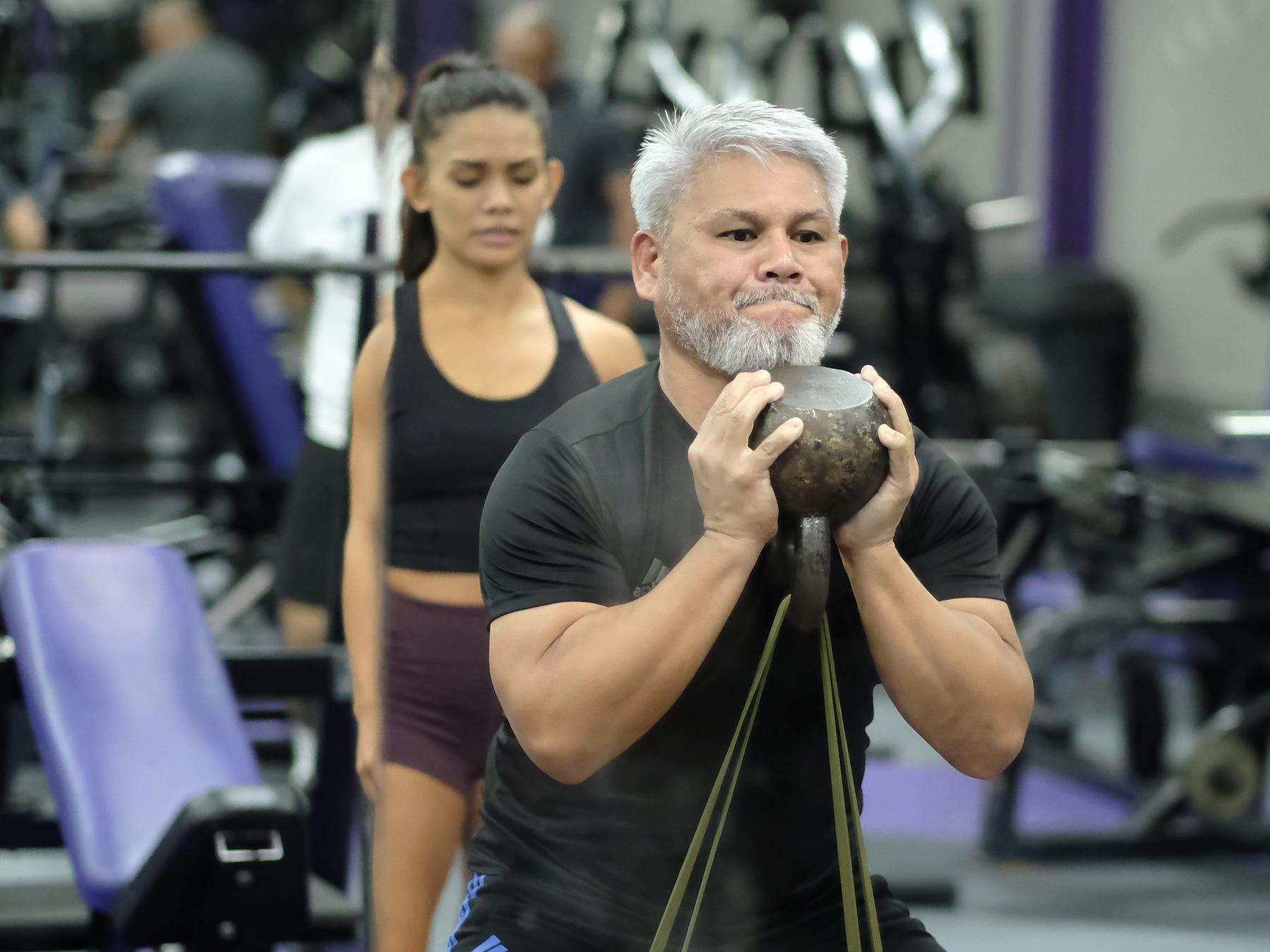 Steve Oshiro at Paradise Fitness in Hagatna November 15, 2018. Oshiro has trained many physique and bodybuilding contest winners.