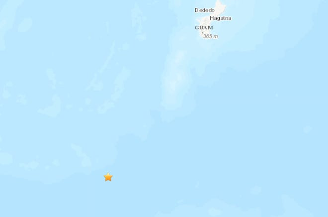 U.S. Geological Survey recorded an earthquake about 126 miles south southwest of Merizo.