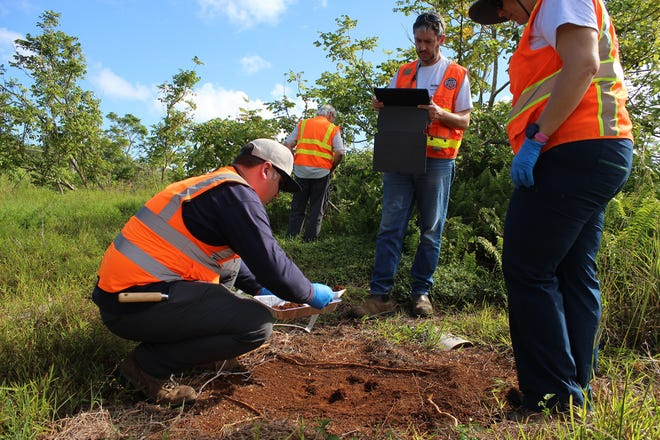 US EPA officials collect soil samples for Agent Orange testing