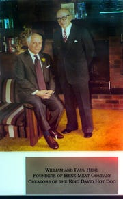 Founders of the Hene Meat Company and creators of the King David Hot Dog William and Paul Hene.