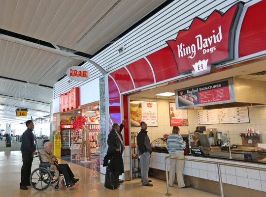 The Indianapolis International Airport King David Dogs continues to operate after the Downtown Indy shop closes Nov. 21, 2018.