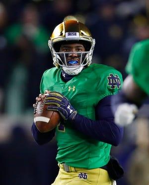 Notre Dame quarterback Brandon Wimbush got back into a game Nov. 10 against Florida State.