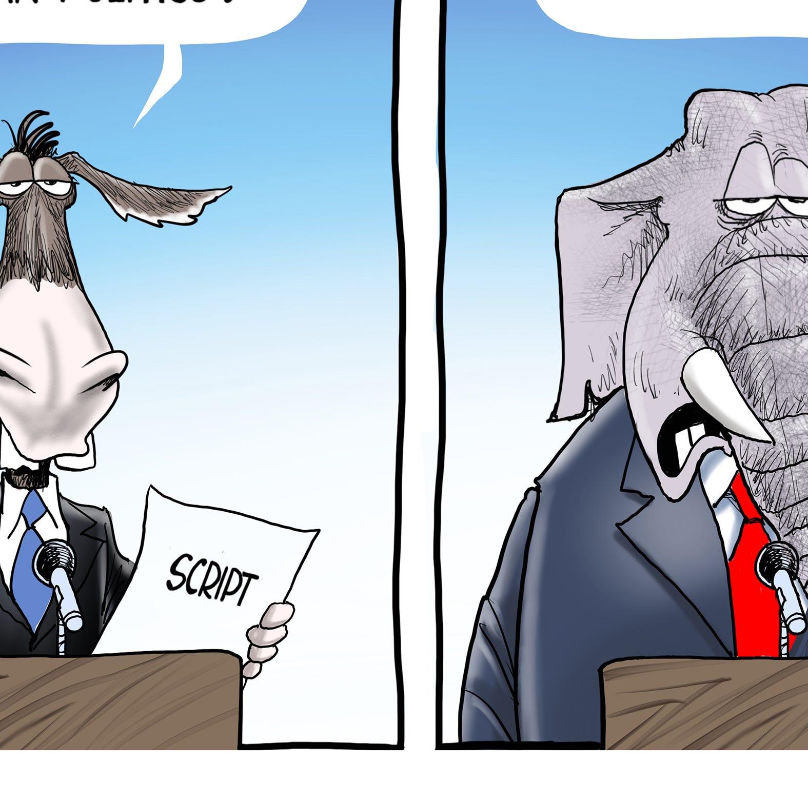 Cartoonist Gary Varvel: Political script