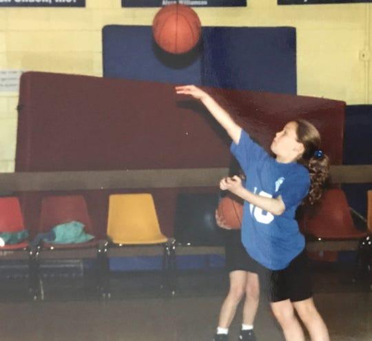 Melanie Boeglin practiced at a gym in Terre Haute as a little girl.