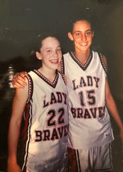 Melanie Boeglin (left) with Kristen Weddle in high school at Terre Haute South Vigo.