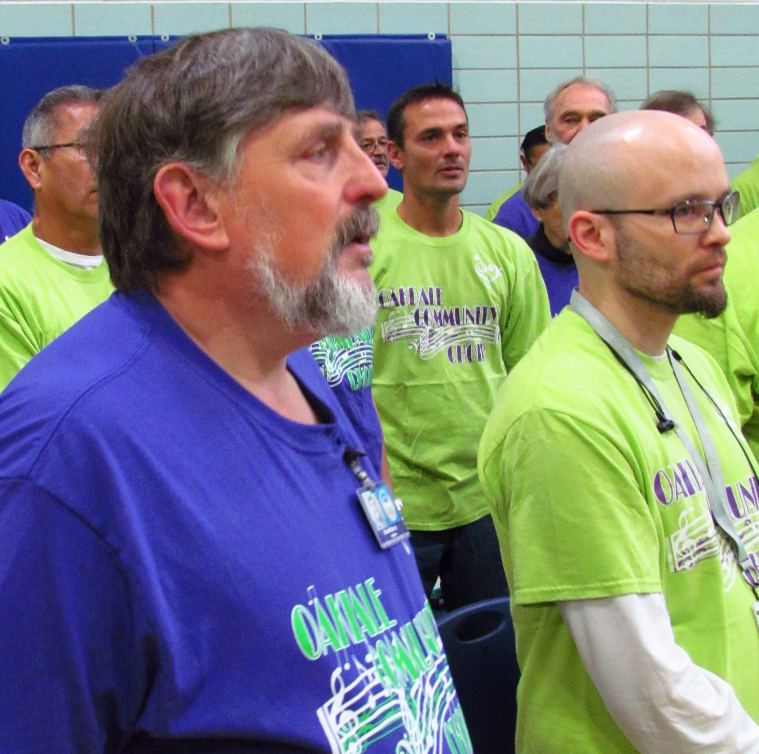 Once behind bars, he now sings with Oakdale Choir as a free man