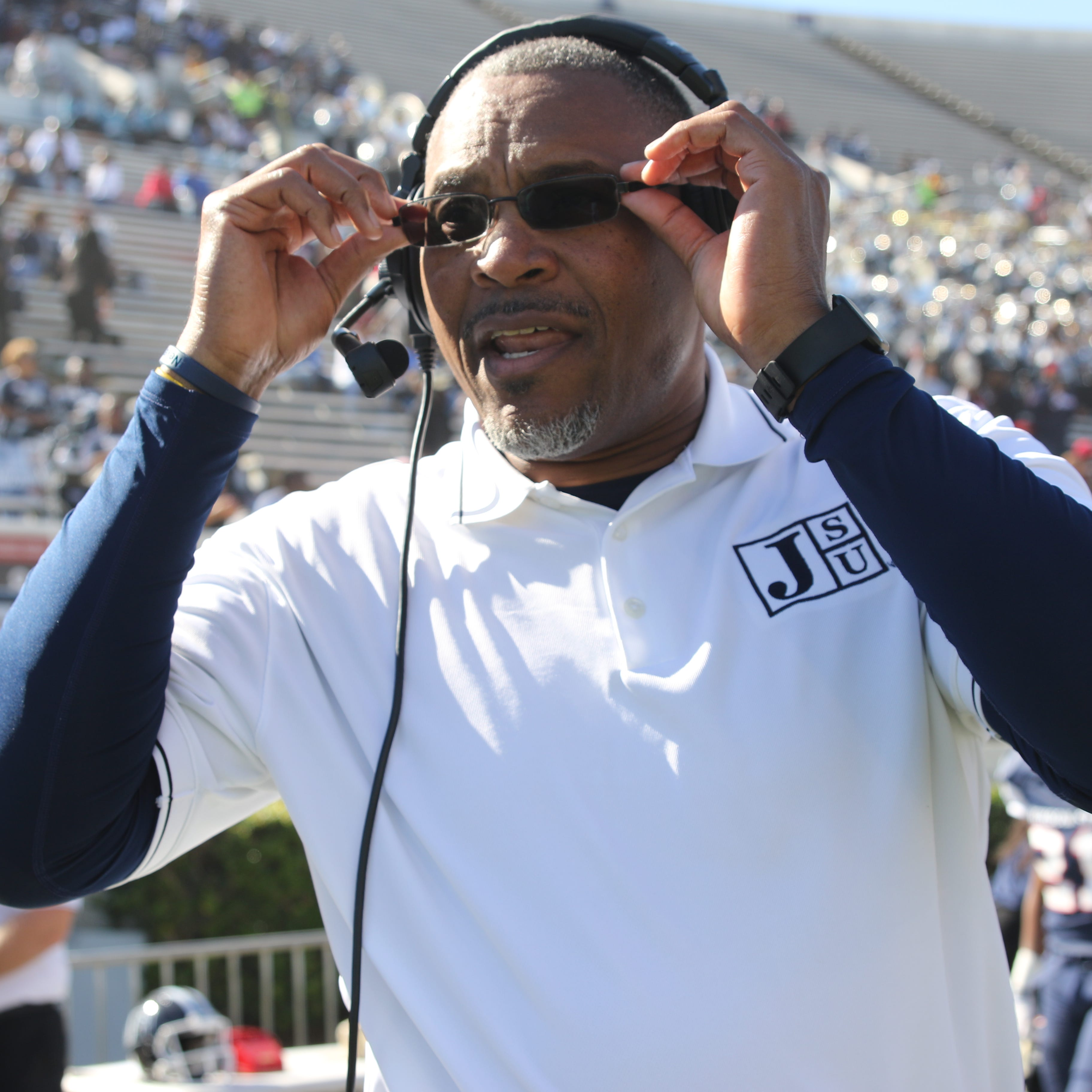 Who are the candidates to replace Tony Hughes as Jackson State football's head coach?