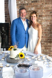 """Jay Barfield and Dixie Meadors married Aug. 25 after being """"introduced"""" on social media by a mutual friend. Barfield is pastor of Immanuel Presbyterian Church in Clinton and a father of six. Meadors is the mother of three."""