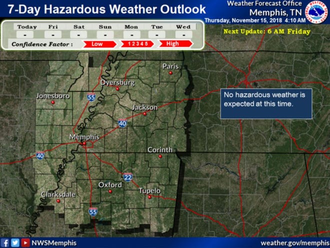 The remaining light snow and freezing drizzle will gradually taper off throughout the day, but no additional accumulations are anticipated, according to an early Thursday forecast from the National Weather Service in Memphis.