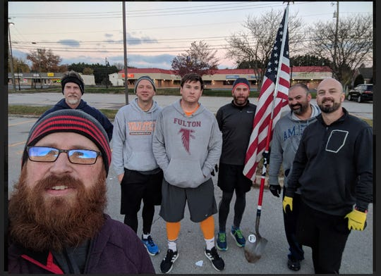 Every F3 workout member gets a special name when they join the group. The F3 crew from Powell includes  Kortney Jarman (Herbie), Todd Justice (Wood Tick), Joey Morrell (Tractor), Rob Speas (Belding), Nate Peterson (A-Rod), Jamie Suarez (Hamm), Nate Votta (Fast-n-Easy).