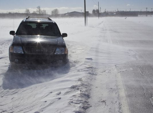 Few mishaps during the area's first icy commute