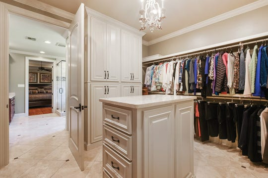 The master closet is a dream.