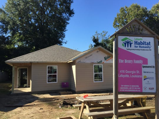 Habitat for Humanity is helping Suzi Henry build and buy this house in Lafayette, Louisiana. Nov. 15, 2018.