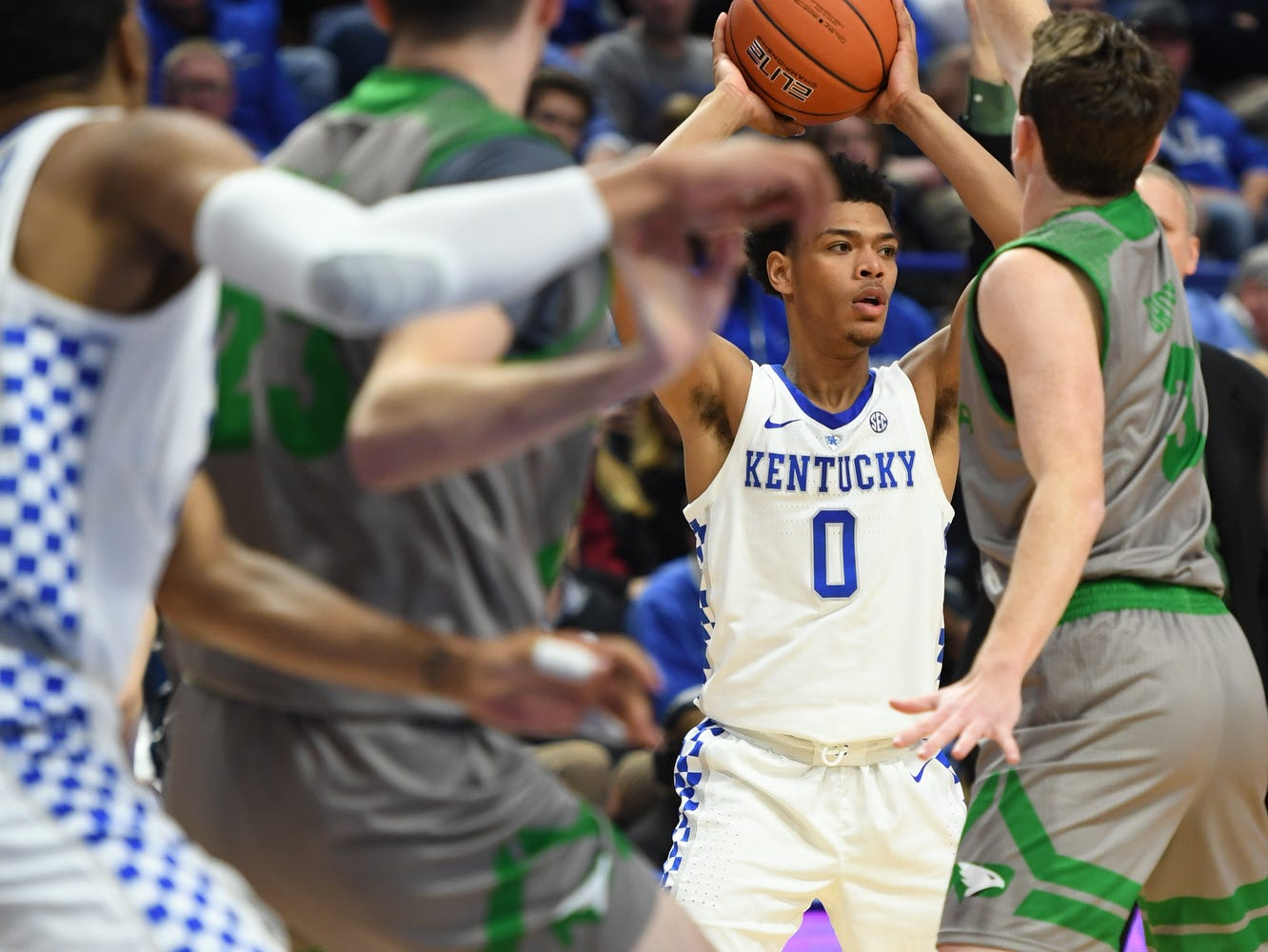 UK G Quade Green during the University of Kentucky mens basketball game against North Dakota at Rupp Arena in Lexington, Kentucky on Wednesday, November 14, 2018.