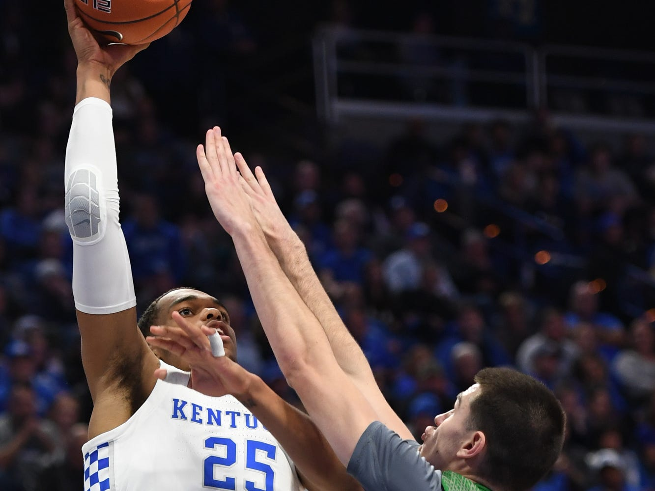 UK F PJ Washington puts up the ball during the University of Kentucky mens basketball game against North Dakota at Rupp Arena in Lexington, Kentucky on Wednesday, November 14, 2018.