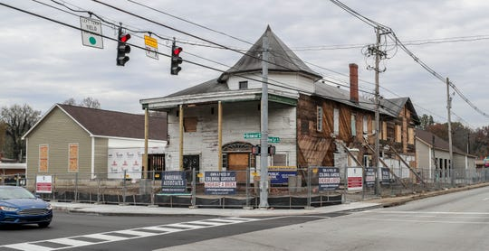 A look at renovations taking place at Colonial Gardens, at the corner of New Cut and Kenwood.