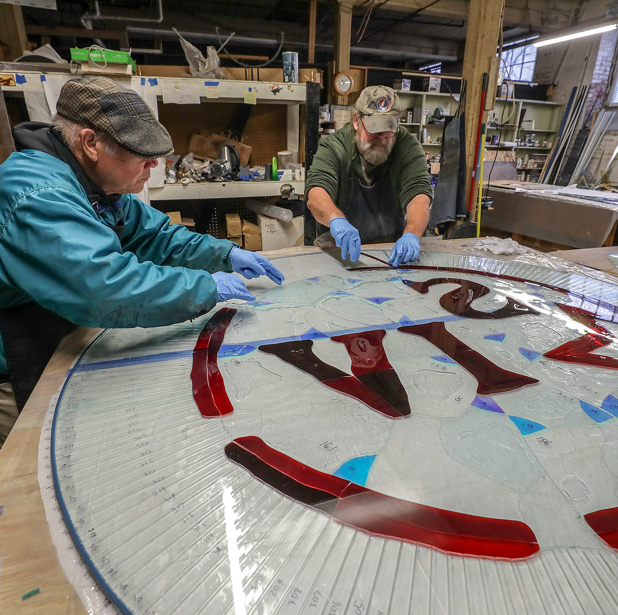 1,000-piece stained glass window to celebrate bourbon at Maker's Mark