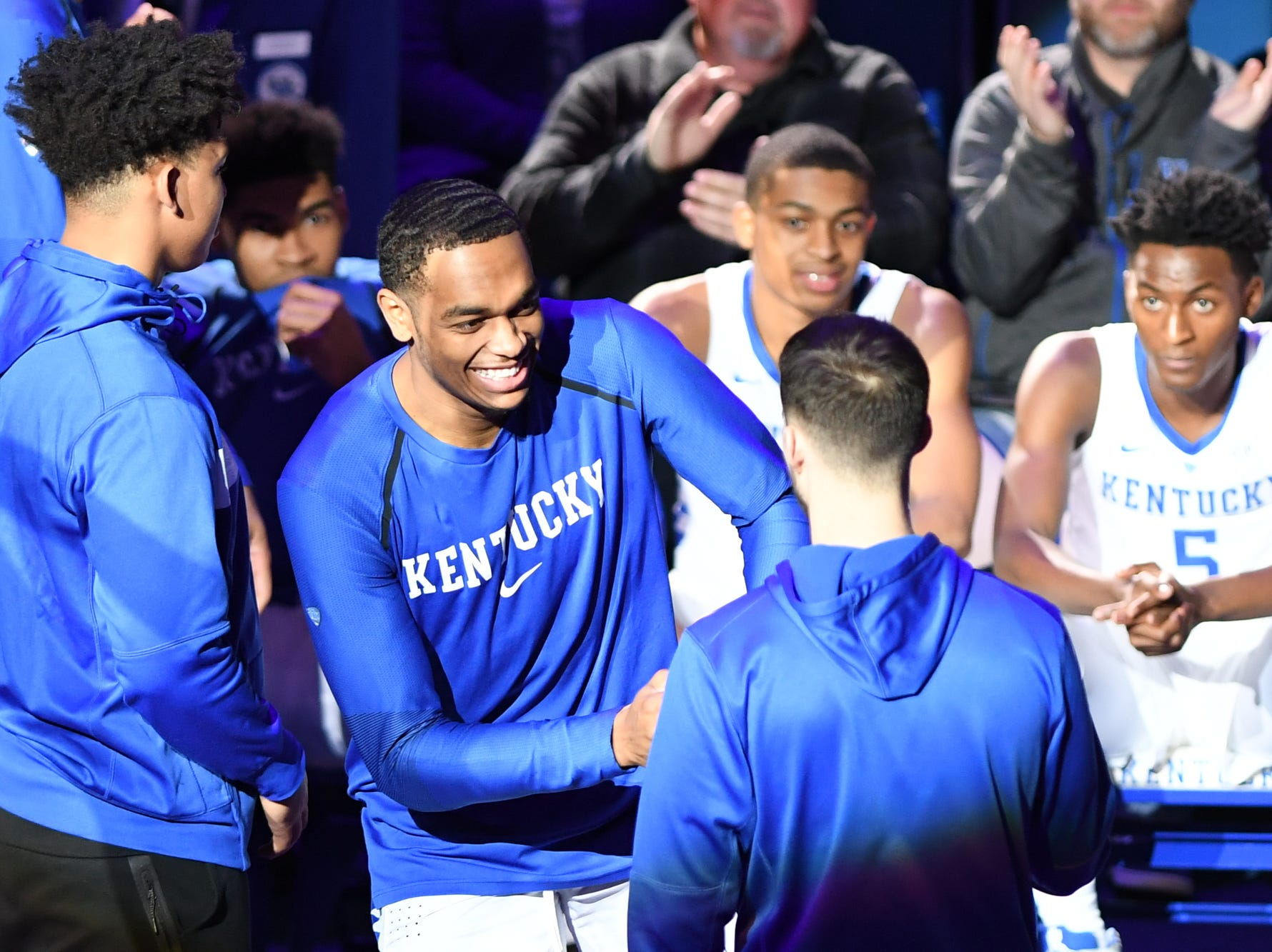 UK F PJ Washington is introduced before the University of Kentucky mens basketball game against North Dakota at Rupp Arena in Lexington, Kentucky on Wednesday, November 14, 2018.