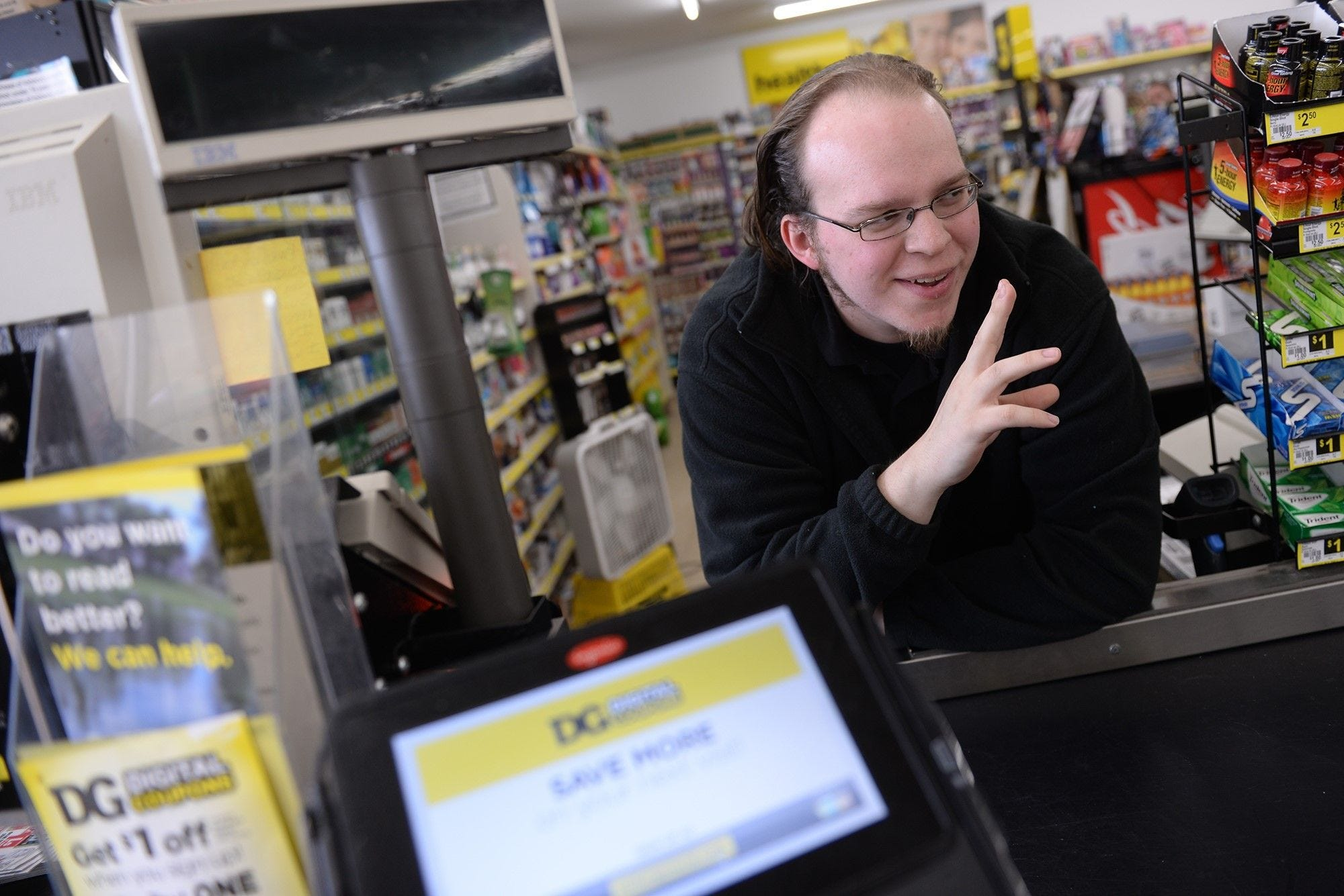 "Lucas Holliday used to work at the Dollar General store at 5640 S. Martin Luther King Blvd. in Lansing. A video of Holliday singing behind the cash register went viral and led to him being a contestant on NBC's ""The Voice."""