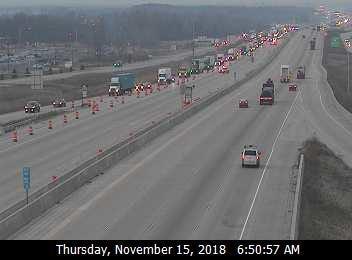 Traffic exits I-94 Thursday morning due to a truck fire in Kenosha County.