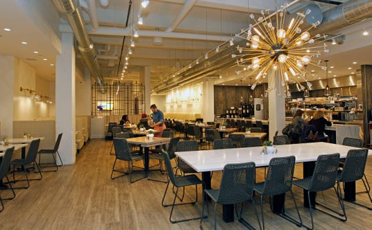 Sweet Diner in the Third Ward has modern and loft-like features. It has large tables for bigger parties of brunchers, as well as a long banquette and a semiprivate room.