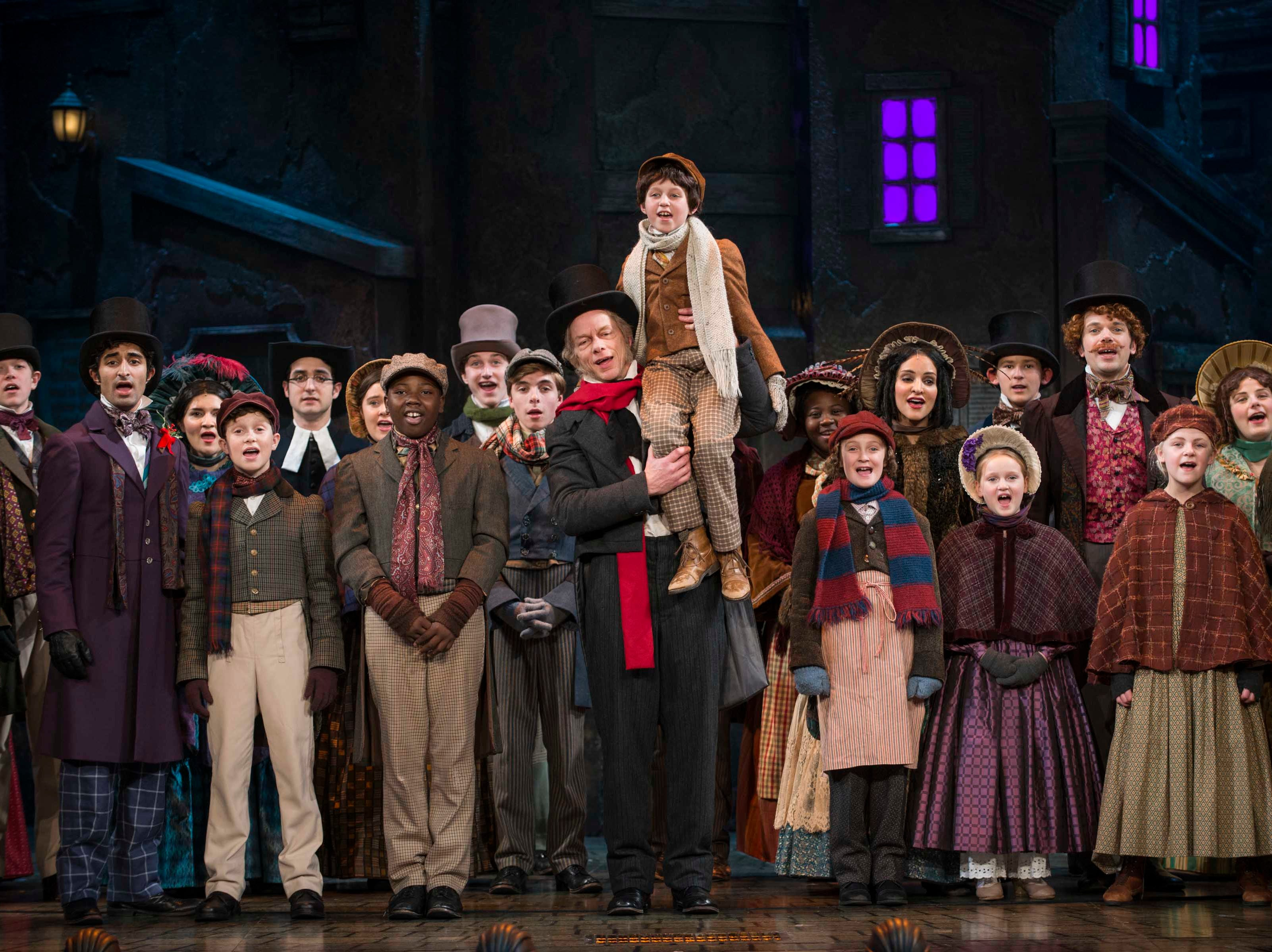 "Jonathan Wainwright returns as Scrooge in Milwaukee Repertory Theater's production of ""A Christmas Carol,"" which begins Nov. 27 at the Pabst Theater. (This photo shows the 2017 cast.)"