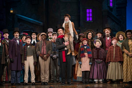 """Jonathan Wainwright returns as Scrooge in Milwaukee Repertory Theater's production of """"A Christmas Carol."""""""