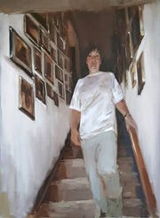 "Madeline Glaspey's painting ""Memory Hallway"" is part of an exhibit now showing at the Charles Allis Art Museum."