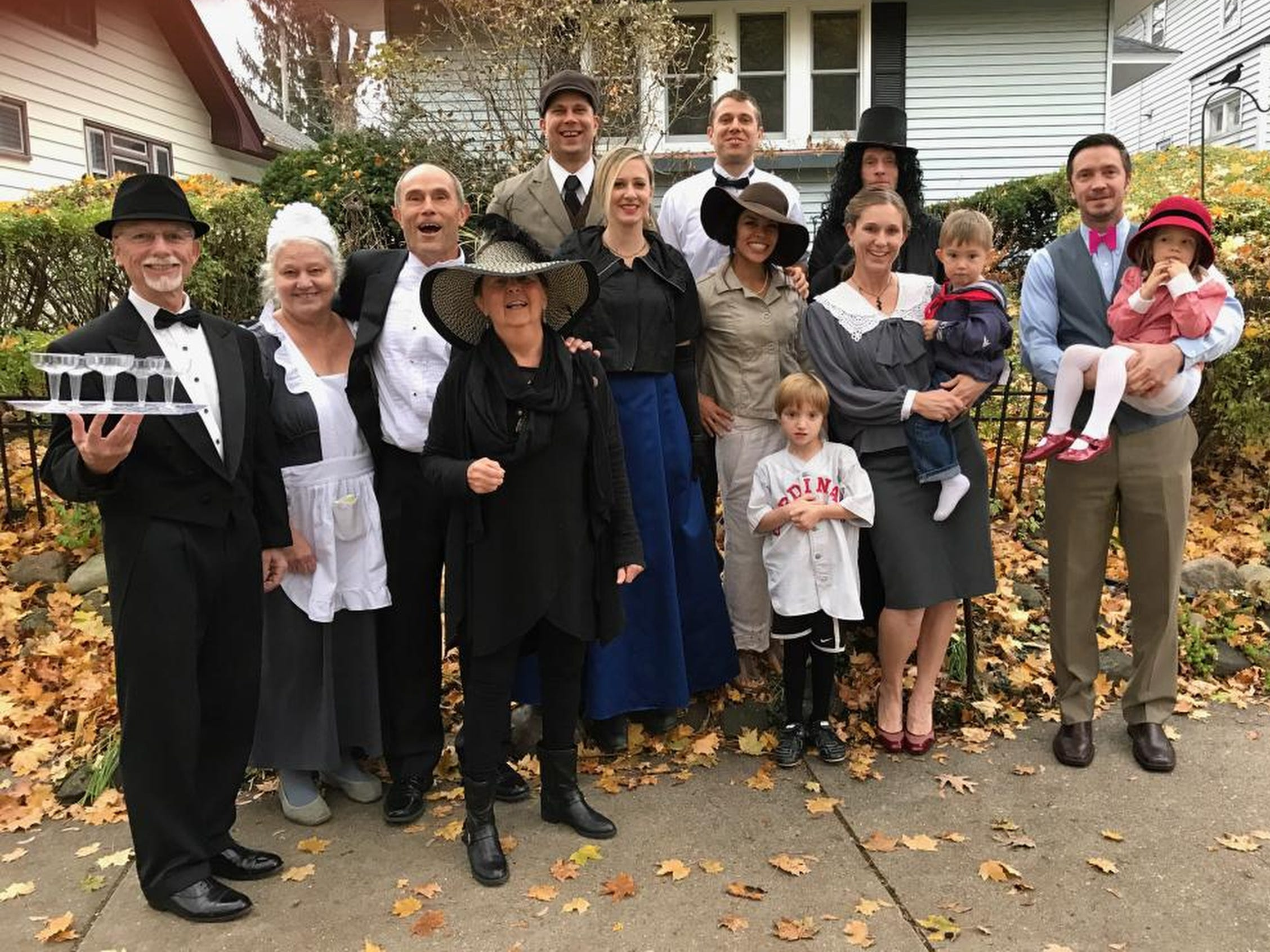 Stingl: It began with PJs in support of ill mom. Now family does costumes every Thanksgiving.