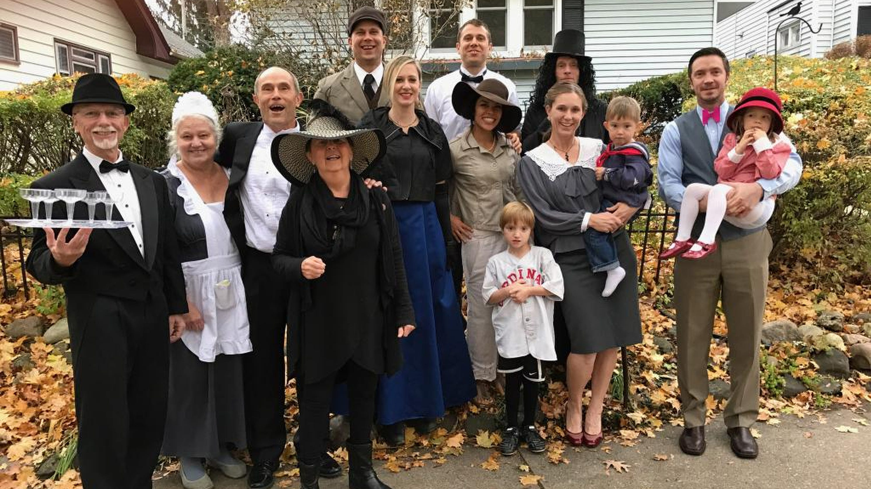 Stingl  It began with PJs in support of ill mom. Now family does costumes every  Thanksgiving. 812460ff6