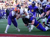 Racine Lutheran struggled to move the ball and lost, 43-14, to Iola-Scandinavia in the WIAA Division 6 state championship game Thursday in Madison.