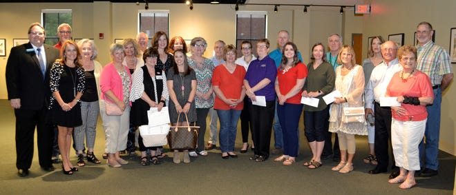 Pictured are representatives of area groups and nonprofit organizations that received Giving Tree Grants from the Twin Lakes Community Foundation in 2018.