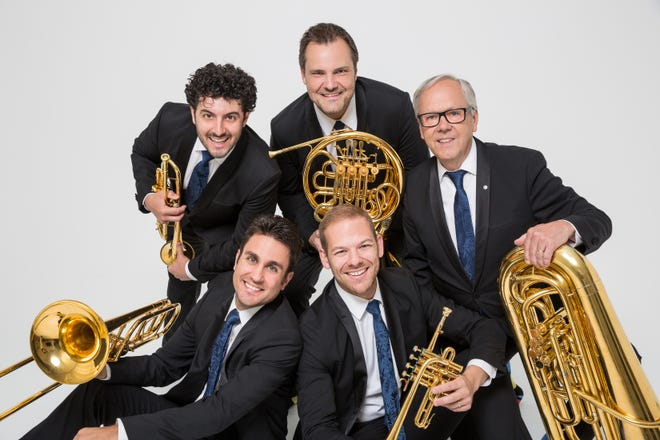 The Canadian Brass, a quintet that mixes humor with serious musicianship, will appear at the Mayo PAC in Morristown on Monday, November 26.  The program will include holiday favorites, as well as original arrangements of songs from the baroque period to the big band era.