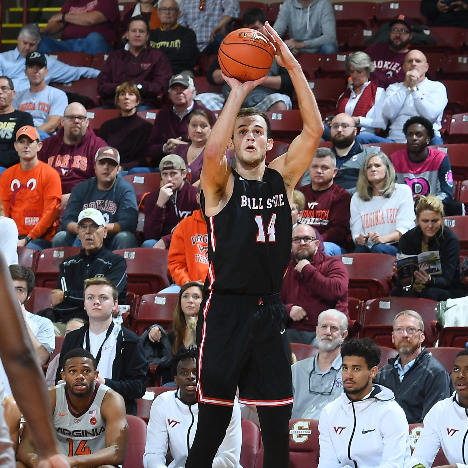 Ball State basketball hangs around against Virginia Tech but falls in Charleston Classic