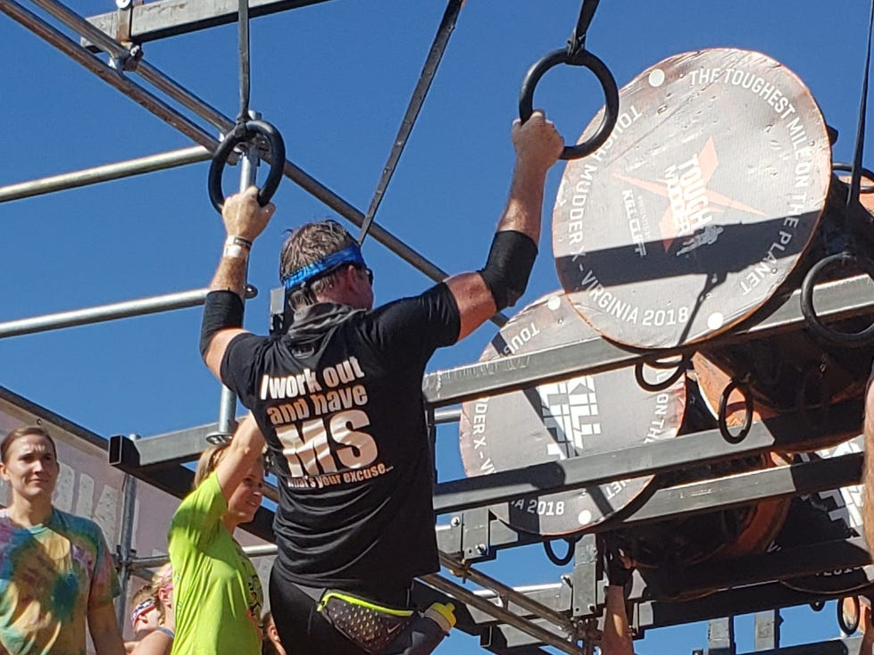 Bruce Ippel of Smyrna competes in a Tough Mudder course.