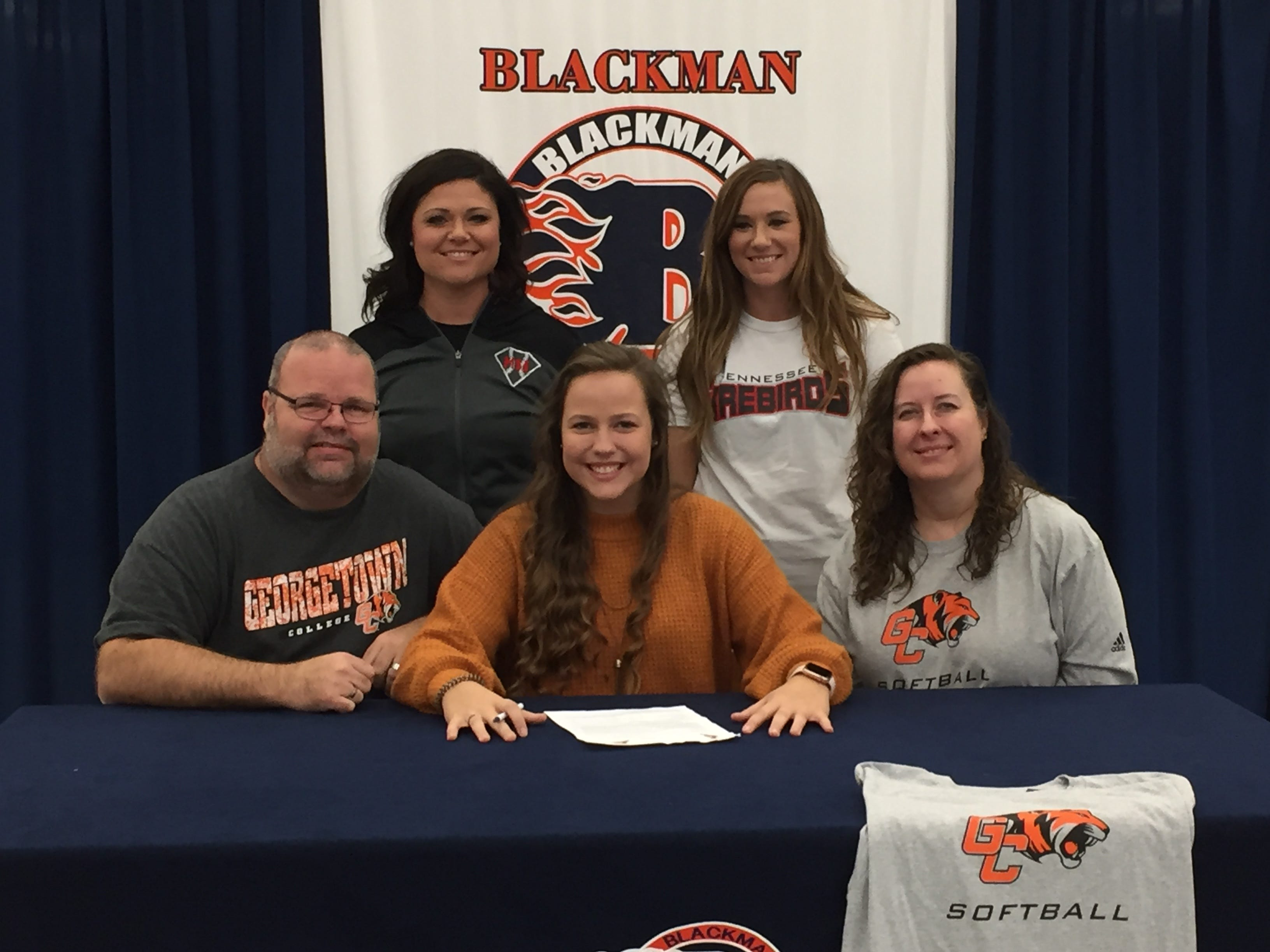 Blackman's Caitlin Manus signed with Georgetown College to play softball.