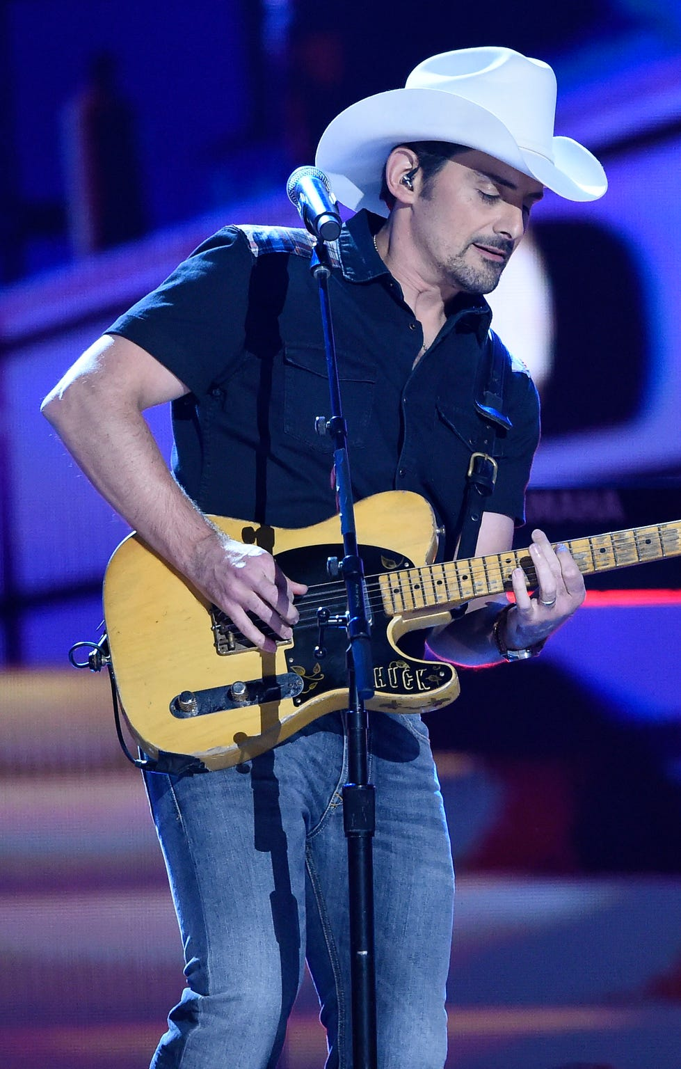 Brad Paisley performs during the 52nd annual CMA Awards at Bridgestone Arena on Nov. 14, 2018, in Nashville.