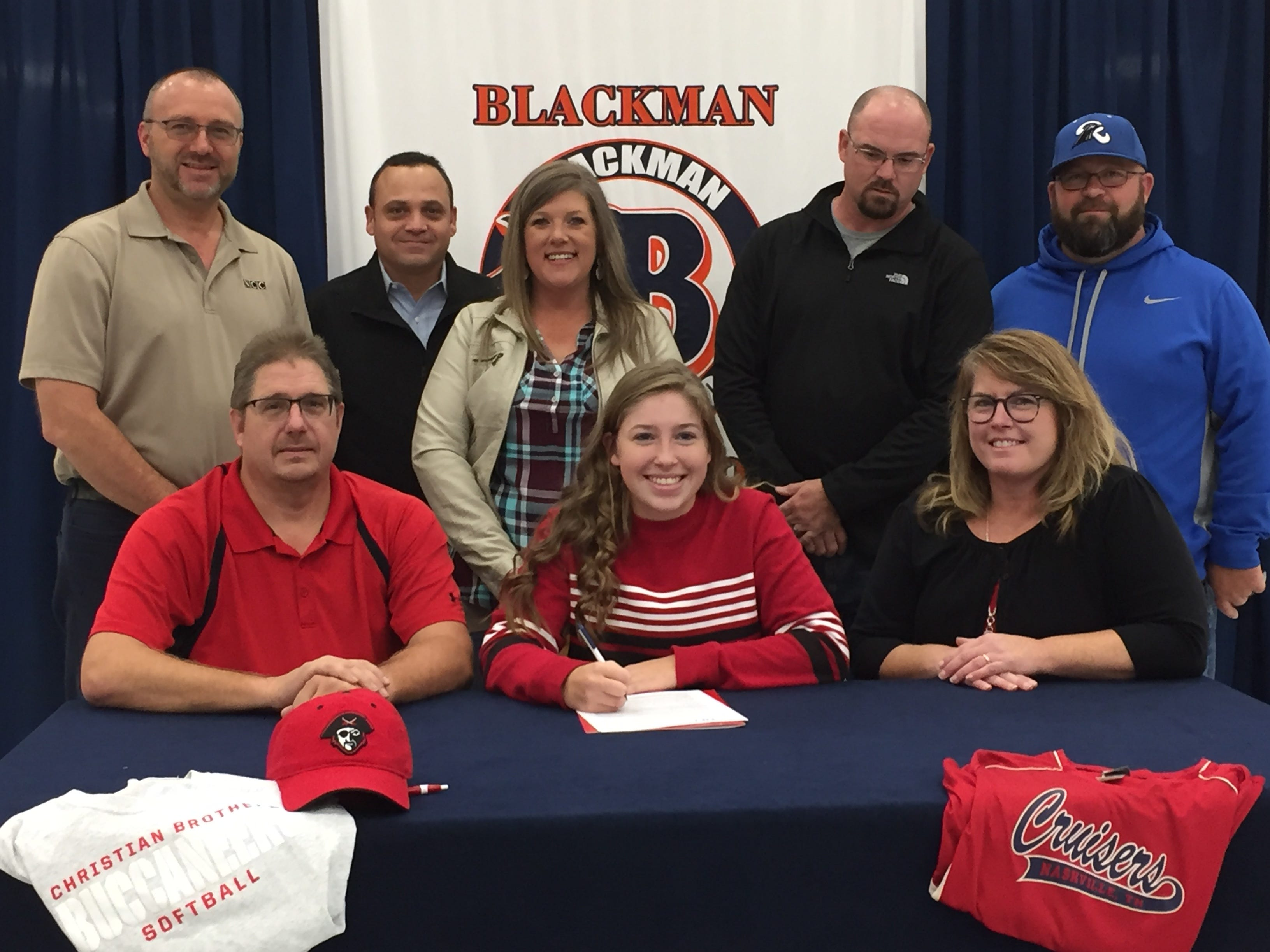 Blackman's Elaina McGill signed with Christian Brothers to play softball.